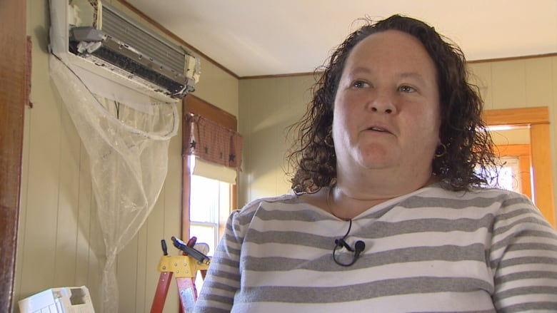 P.E.I. resident Lorna Newcombe loves her heat pump but is convinced mould in it caused her sickness. (CBC)